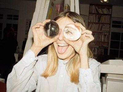 "people woman eye eyes laugh laughing indoor indoors tongue ""crystal ball"""