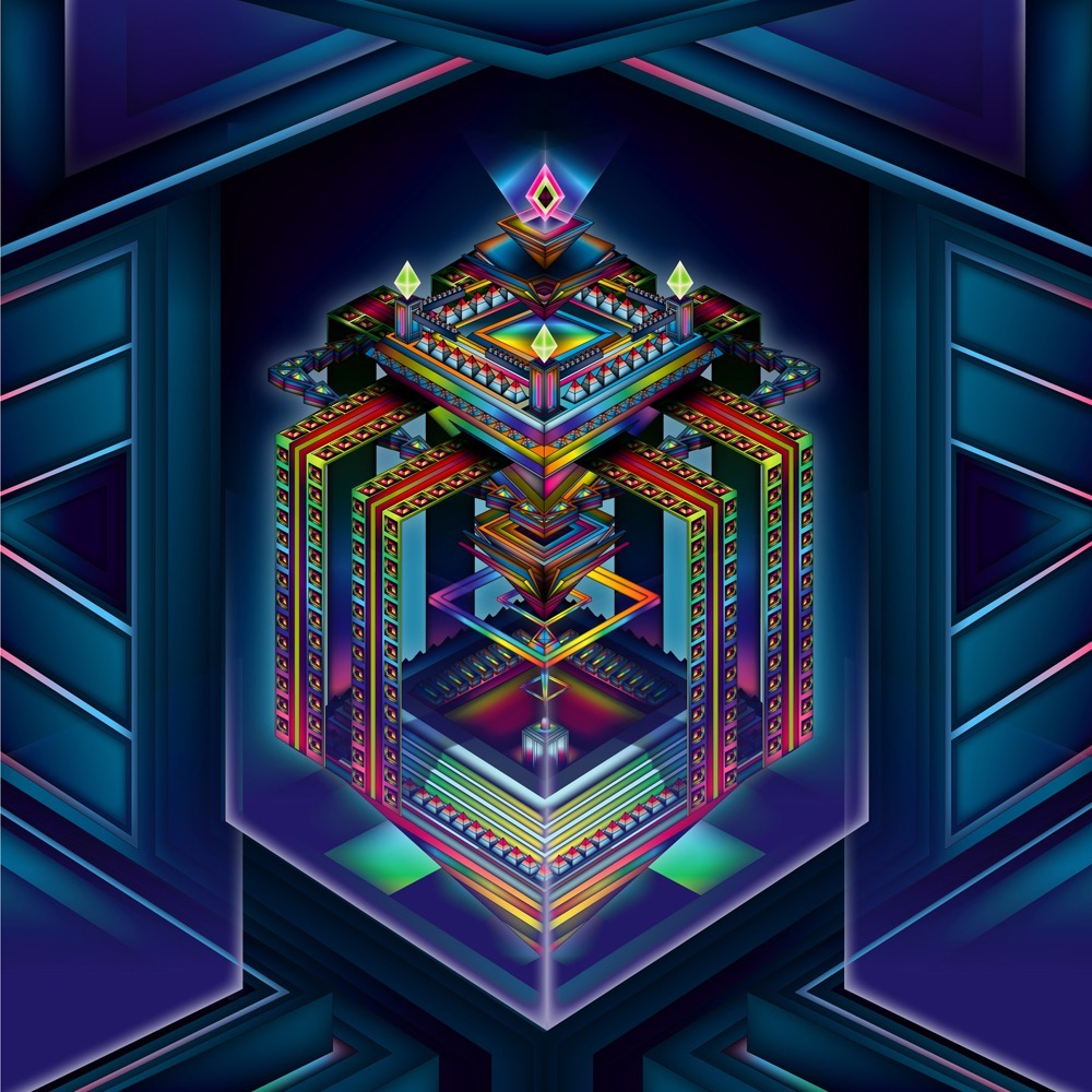 Vector Surrealistic Futuristic Fantastic geometric abstract diamant