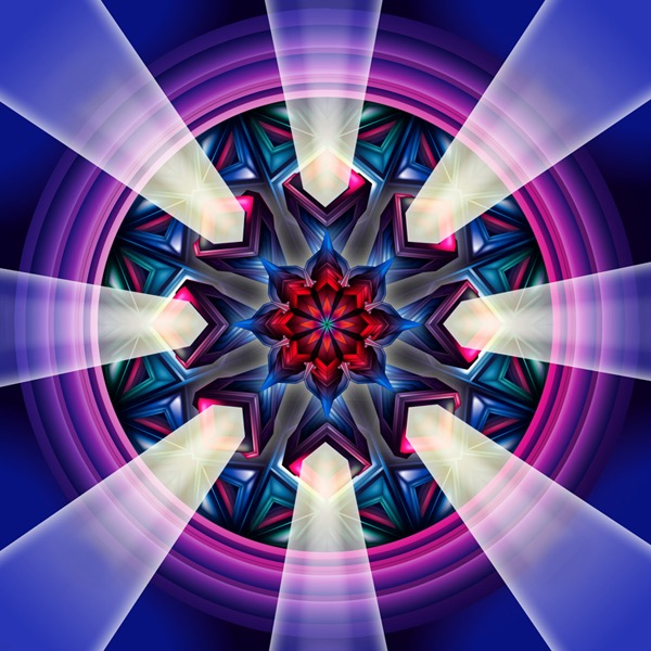 abstract futuristic fantastic psychedelic vector divinity god fantastic light geometric surrealistic origami japanese transformation symmetric