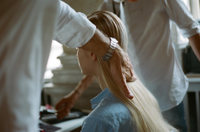 people woman hair blond backstage