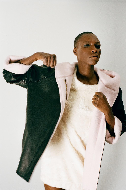 People model fashion jacket