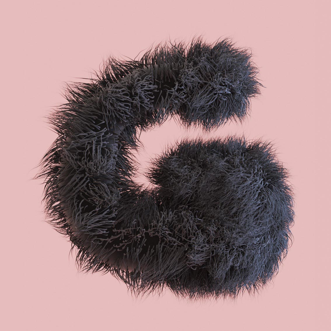 letter G fluff fluffy 3D hairy snyder Alphabet 3D Surrealistic Photorealistic