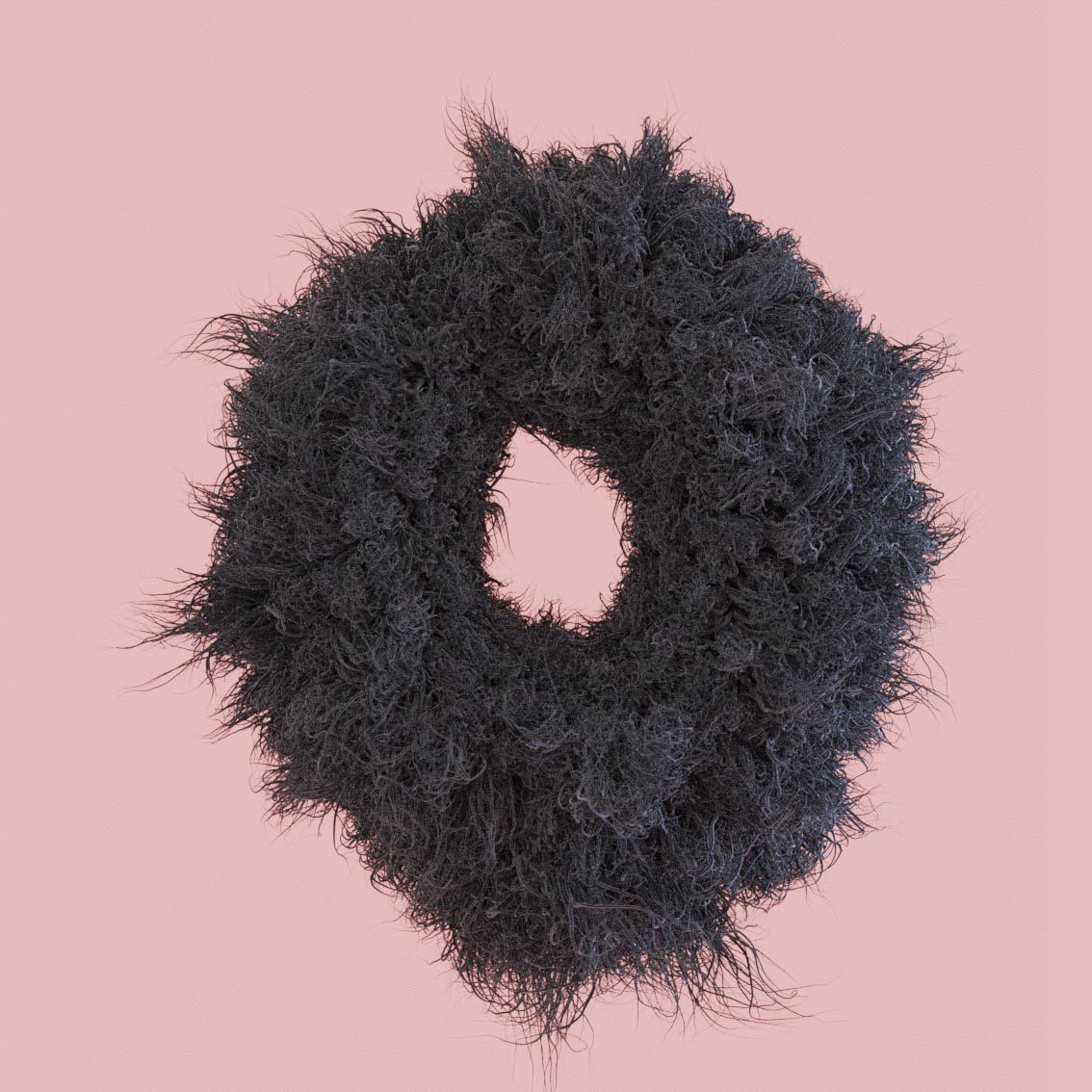 letter O fluff fluffy 3D hairy snyder Alphabet 3D Surrealistic