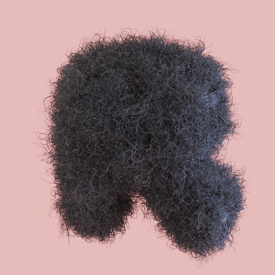 letter R fluff fluffy 3D hairy snyder Alphabet 3D Surrealistic