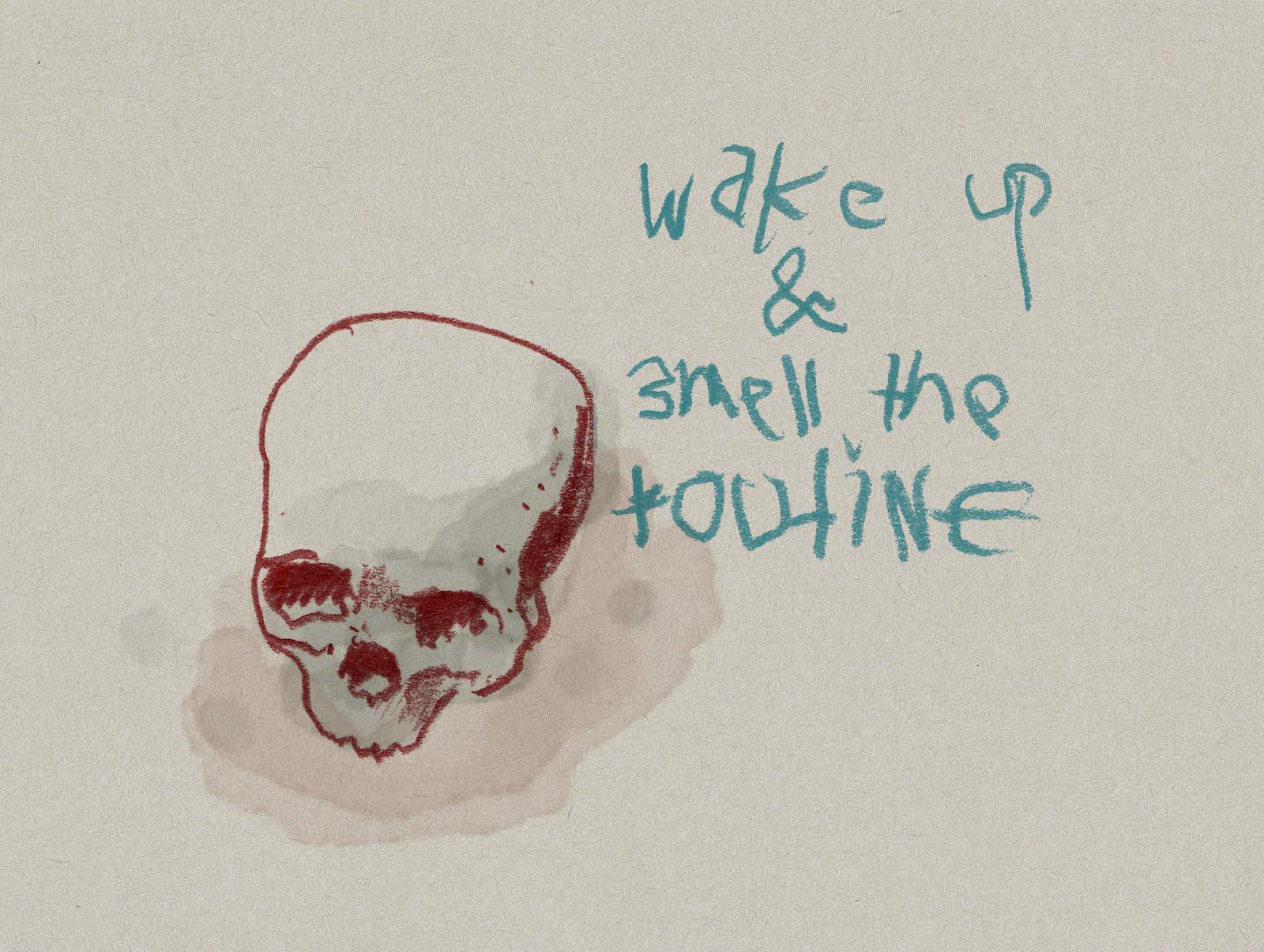 pencil scribble skull