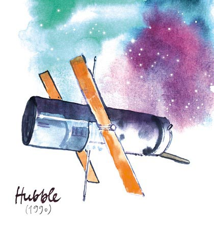 satellite hubble