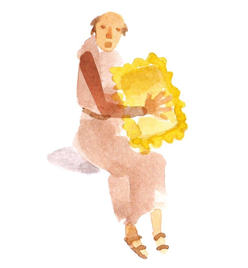 man monk maultasche maultaschen food herrgottsbscheiserle