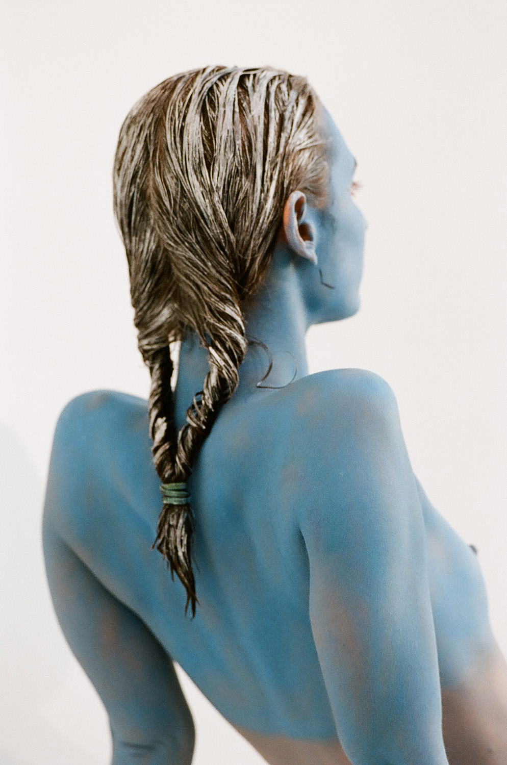 photo, photos, photography, photographer, photographers, woman, women, girl, back, breast, breasts, braid, braids, blue