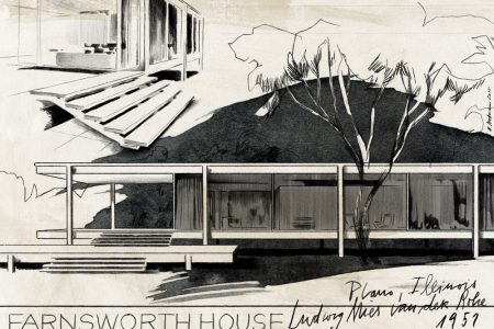 "illustration illustrator building house fransworth black and white"" pavilion"