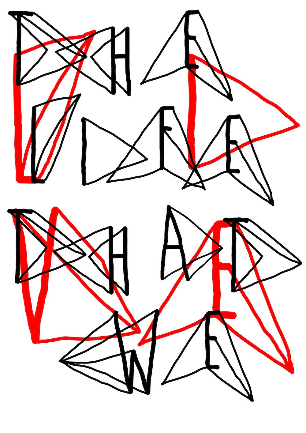 illustration, illustrations, illustrator, illustrators, triangle, triangles, the, life, that, we, live, typographic, type