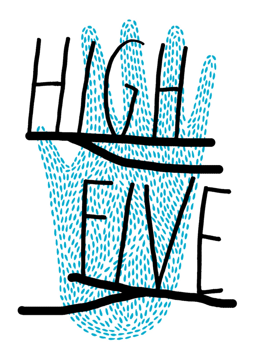 illustration, illustrations, illustrator, illustrators, hand, hands, stroke, droplets, high, five