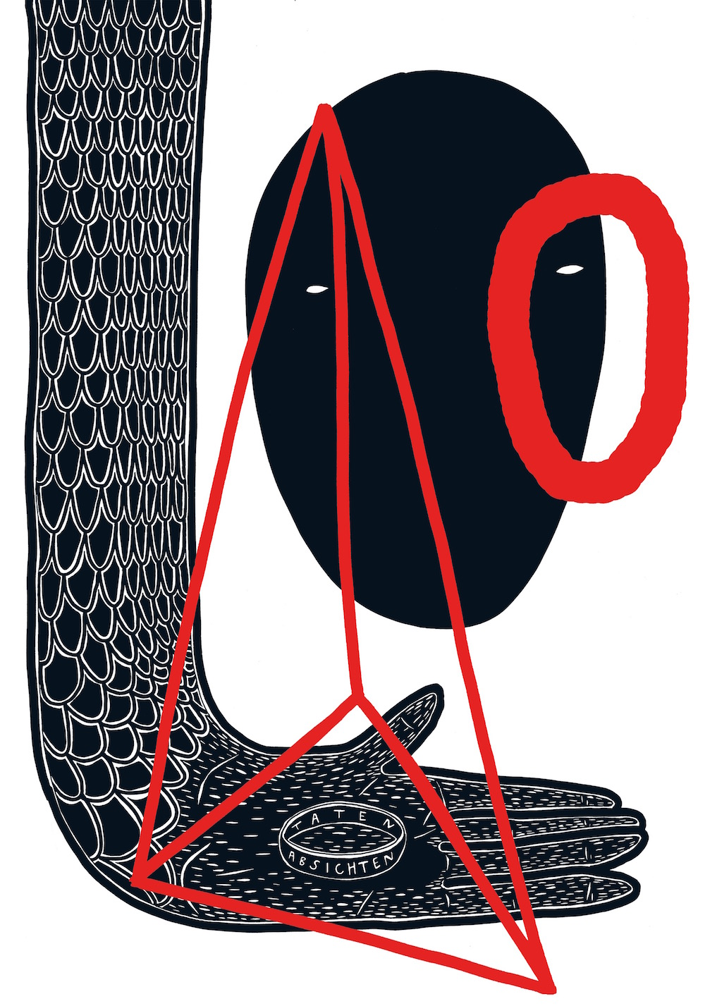 illustration, illustrations, illustrator, illustrators, hand, ring, rings, hands, triangle, scales, pattern, lines, strokes, zero, o, face, faces