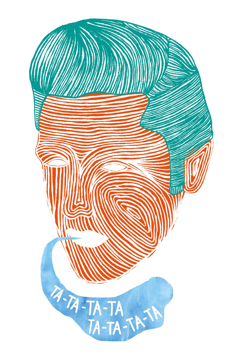 illustration, illustrations, illustrator, illustrators, hair, hairs, ta, swirl, stroke, strokes, man, men, human, hairstyle