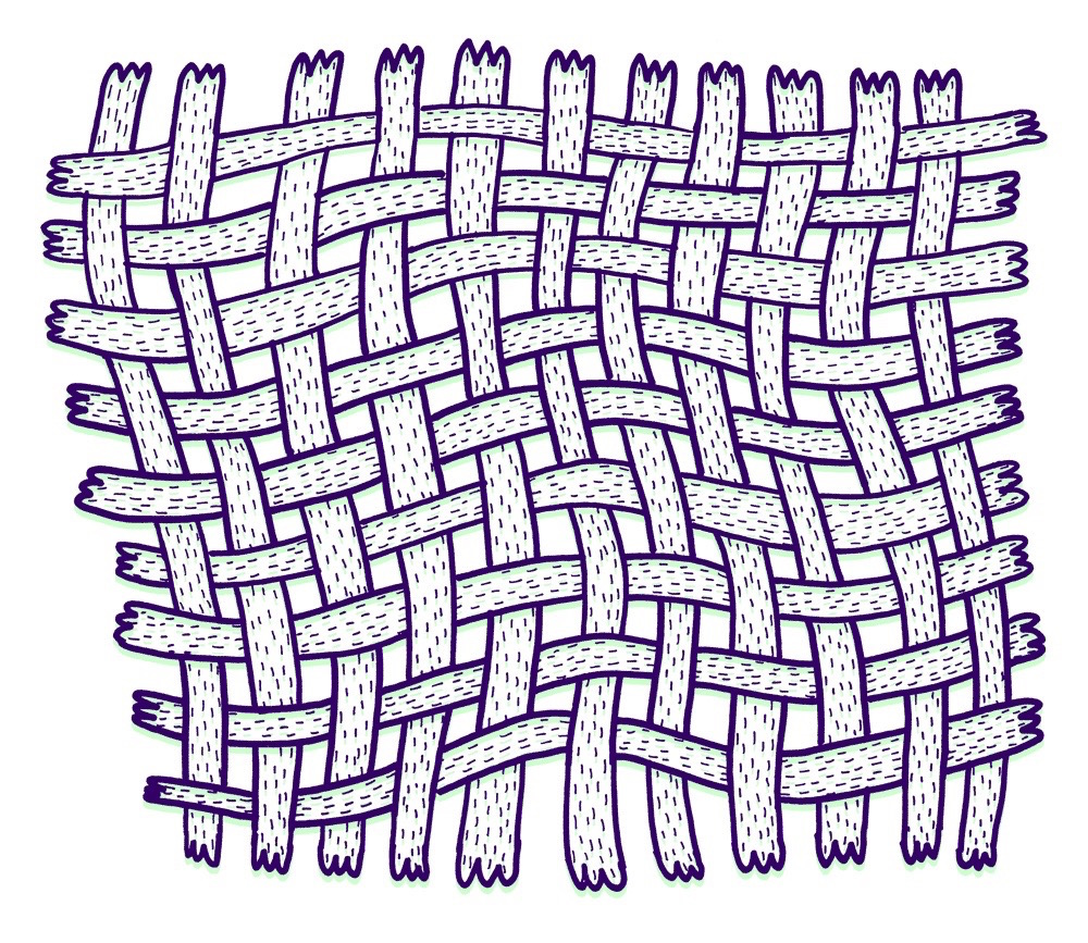 illustration, illustrations, illustrator, illustrators, hatch, crisscross, crosshatching, woven, weave, fence, hands, hand, paw, paws, line, lines
