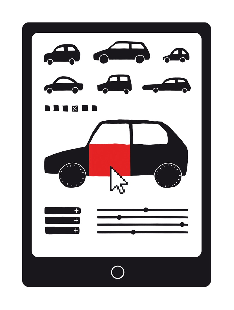 illustration, illustrations, illustrator, illustrators, ipad, tablet, tablets, ipads, car, cars, choice, choose, pointer, point, browse