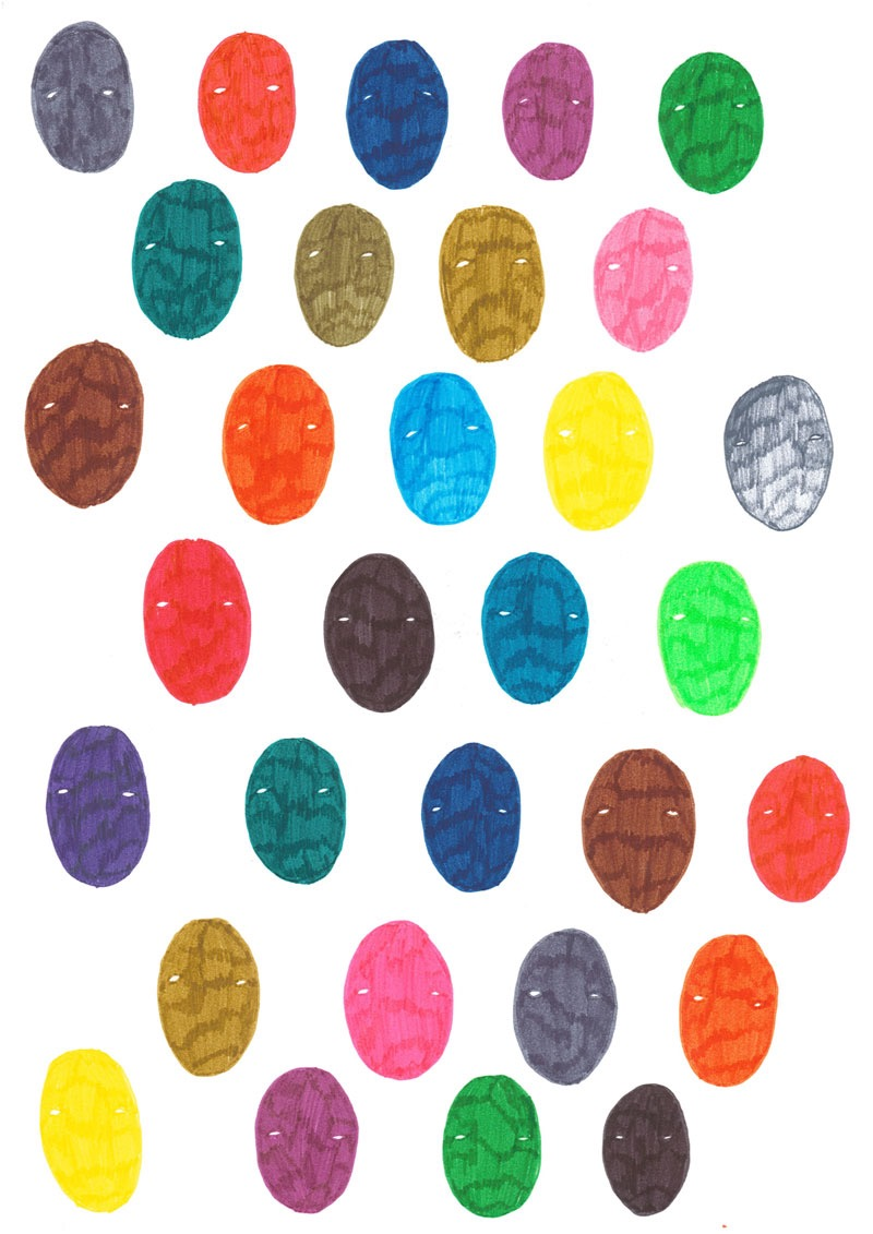 illustration, illustrations, illustrator, illustrators, face, faces, eye, eyes, multicolor, colorful, stamp, pattern