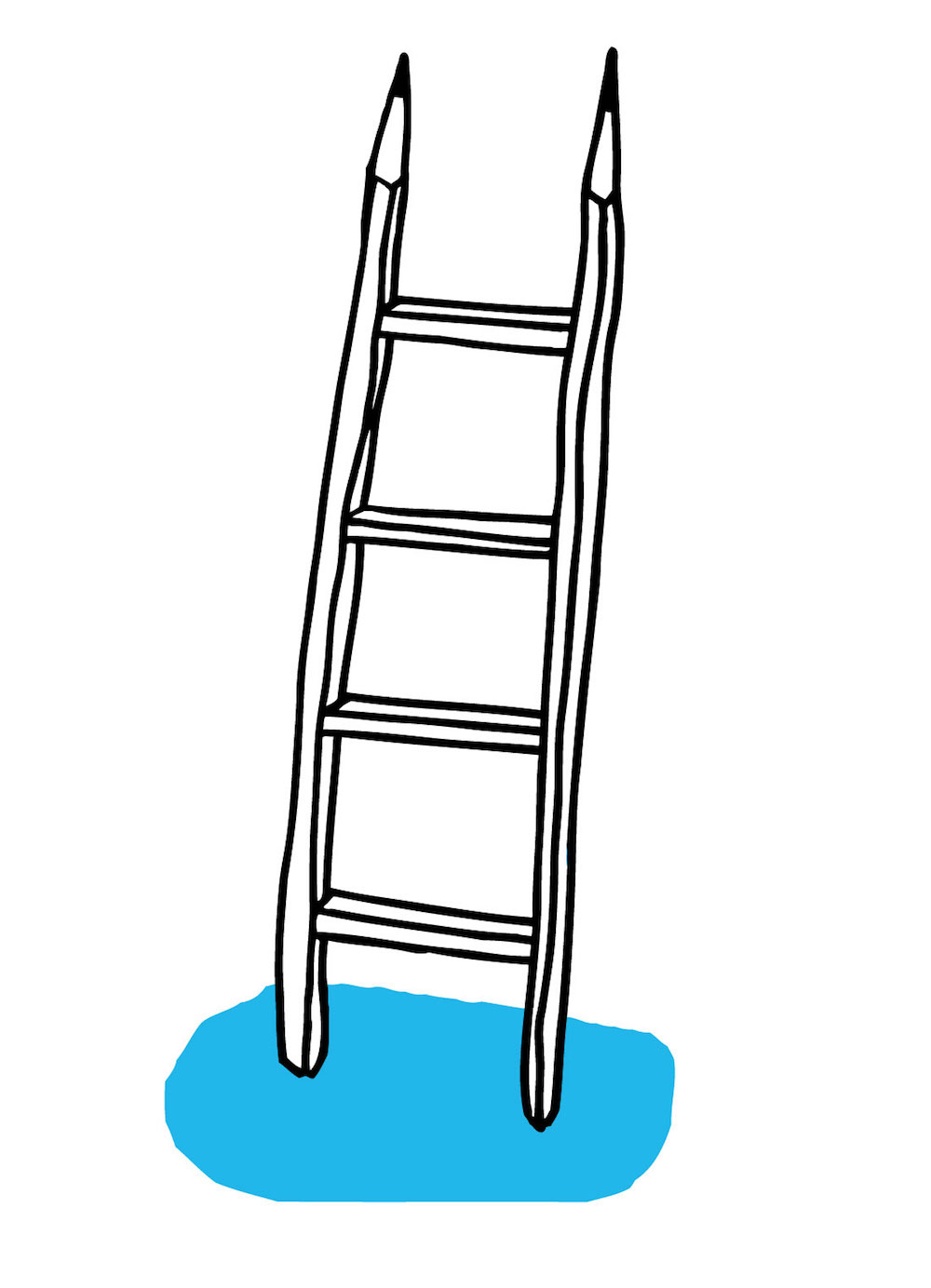 illustration, illustrations, illustrator, illustrators, ladder, ladders, pencil, pencils, puddle, puddles
