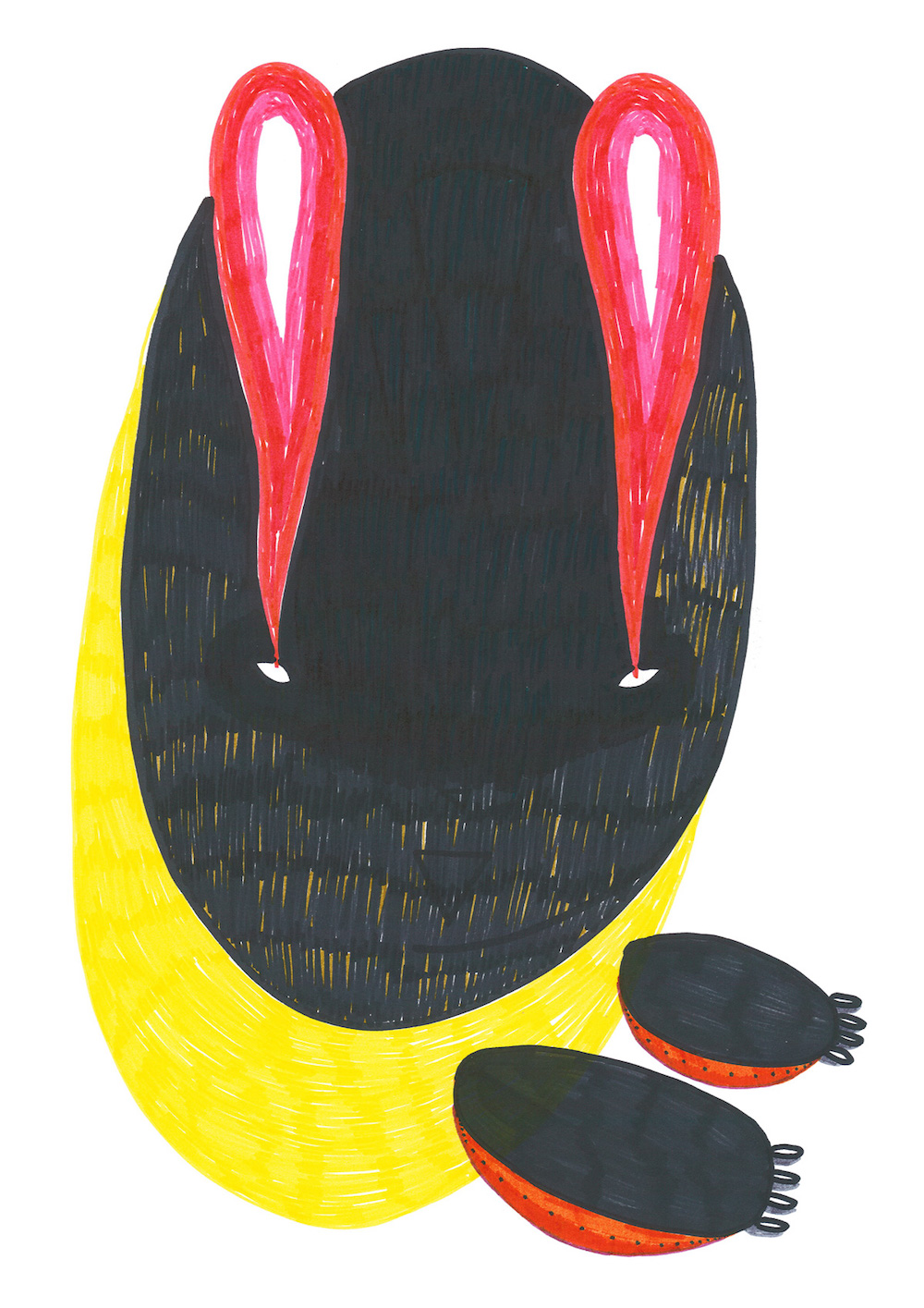 illustration, illustrations, illustrator, illustrators, abstract, oval, oblong, paw, paws, eye, eyes