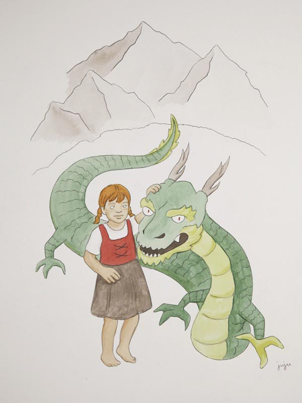 illustration illustrations illustrator illustrators mountain mountains dragons dragon girl girls