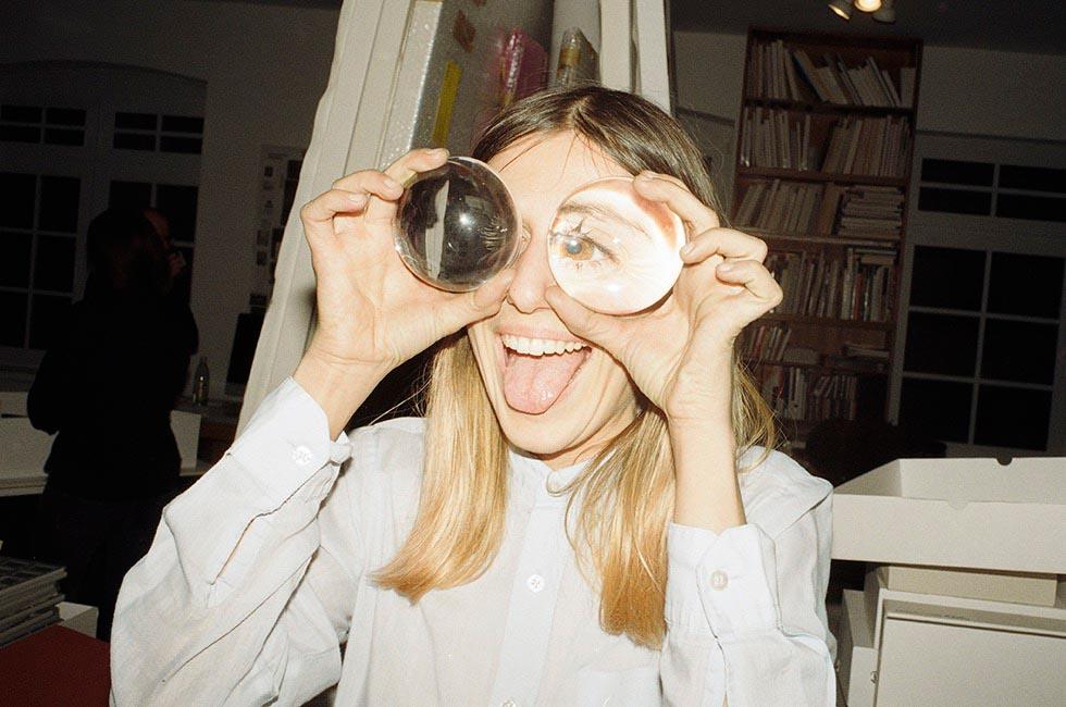 people woman eye eyes laugh laughing indoor indoors tongue