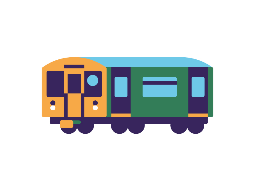 vector minimal transportation train rail