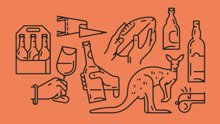 vector minimal lines outlines object objects bottle glass glassware whistle bottles beer sixpack animal kangaroo animals ball rugby football