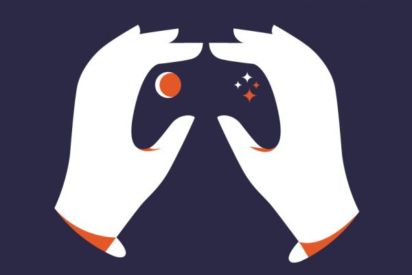 "vector minimal hand hands controller ""negative space"" ""negative art"""