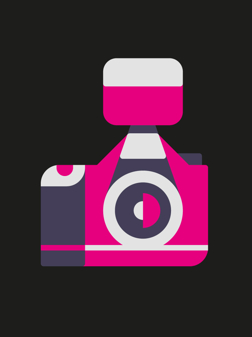 vector minimal objects camera pink