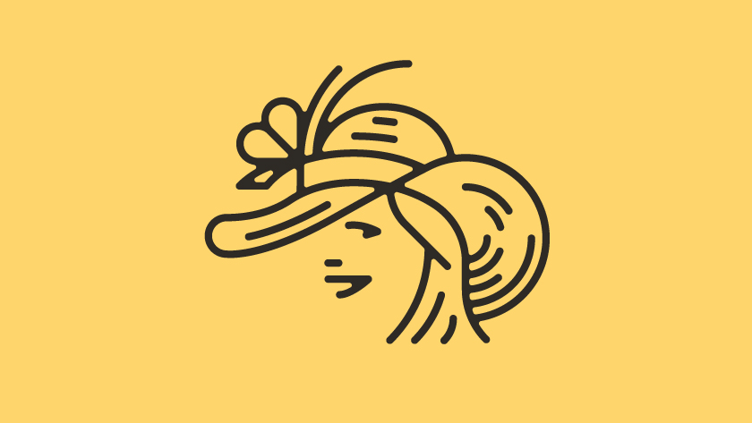 vector minimal lines character people person woman women hat