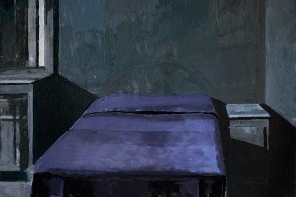 illustration illustrations illustrator illustrator space room inside bed bedroom room blanket blue interior