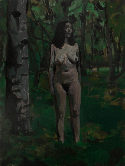 illustration illustrations illustrator illustrator woman naked forest dark tree trees boobs staying alone nude