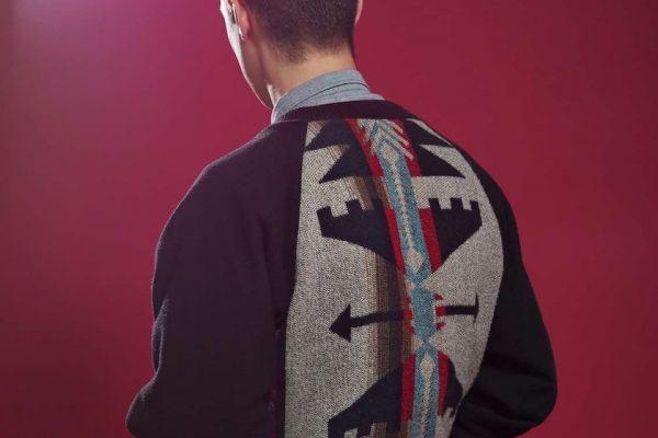 "man jacket pattern backside backhead ""back of the head"" ""back head"" outfit"