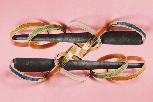 jewelry bracelet bracelets gold golden pink rose