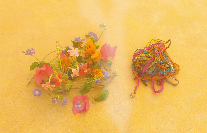 flower flowers yellow colorful plant plants chains jewelry shiny bright