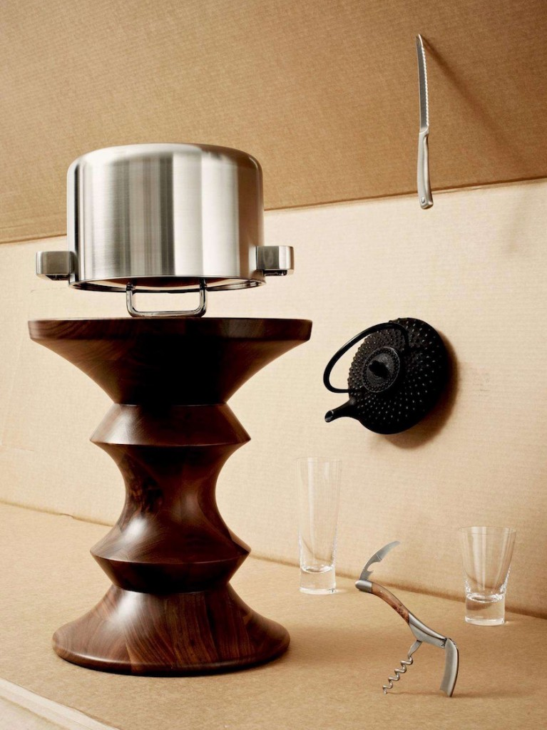 pot glass knife stool table corkscrew cardboard