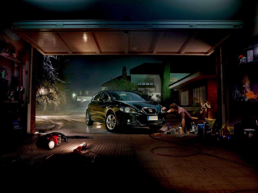 car garage transport repair dark night nights evening clean cleaning man city house