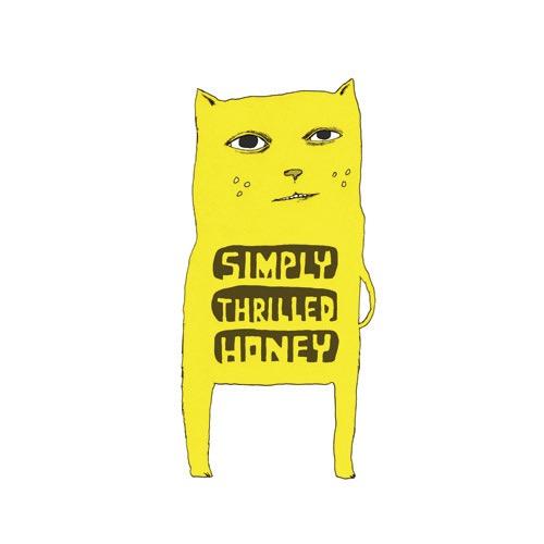 hand drawing vector cat humorous simply thrilled honey yellow animal animals