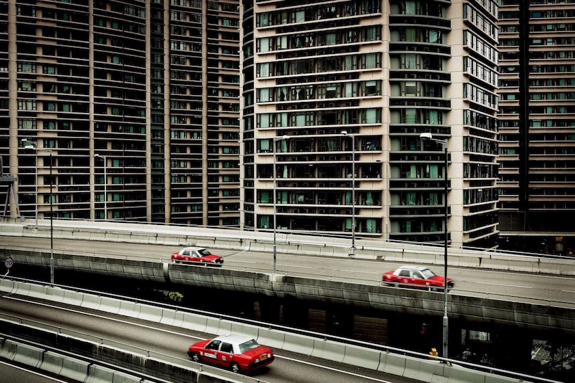 city building buildings street asia traffic