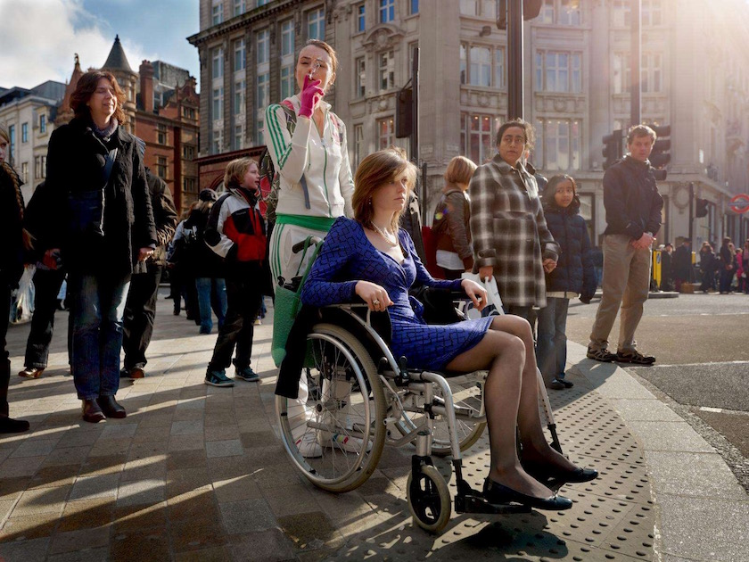photograph photographer photo photographers photography woman women street urban city walk walking sit sitting smoke smoking wheelchair
