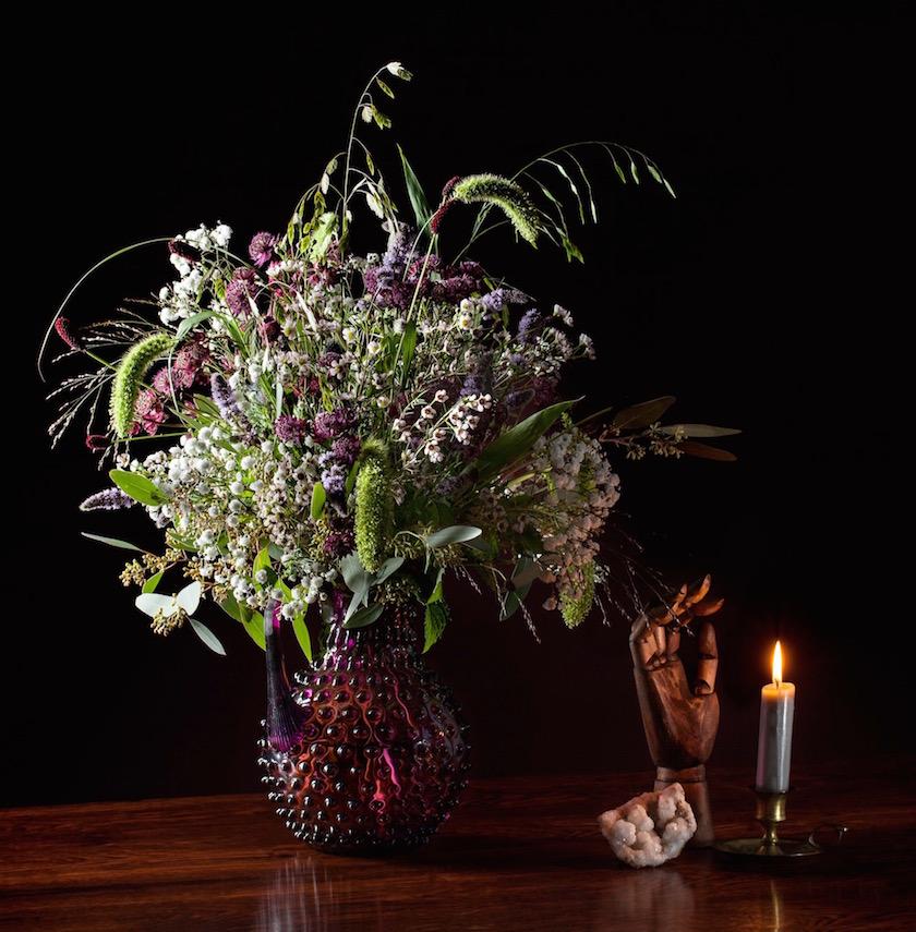 flowers candle hand still flower bouquet