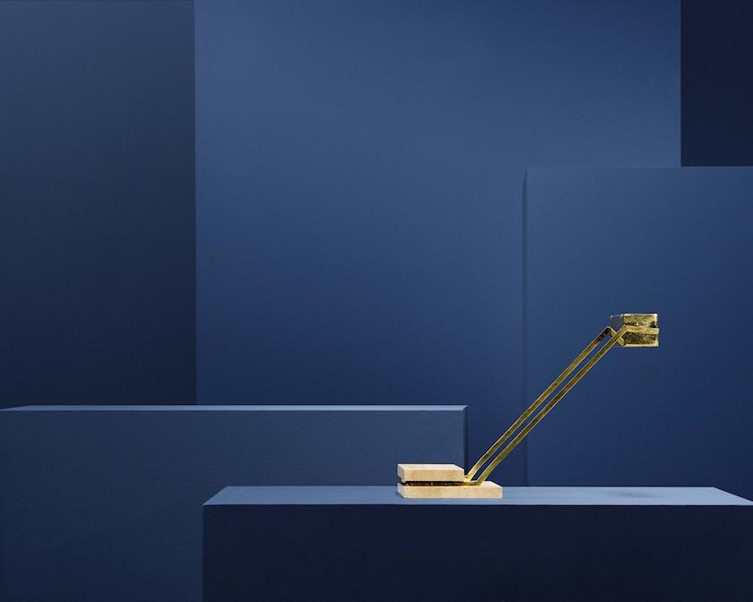 stills lamp brass gold golden blue