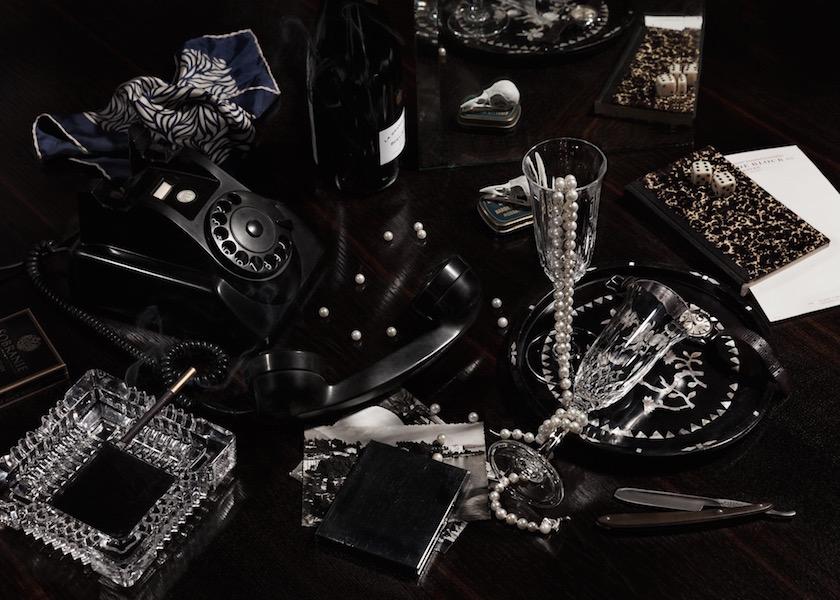 stills black telephone phone pearl pearls dice bottle ashtray