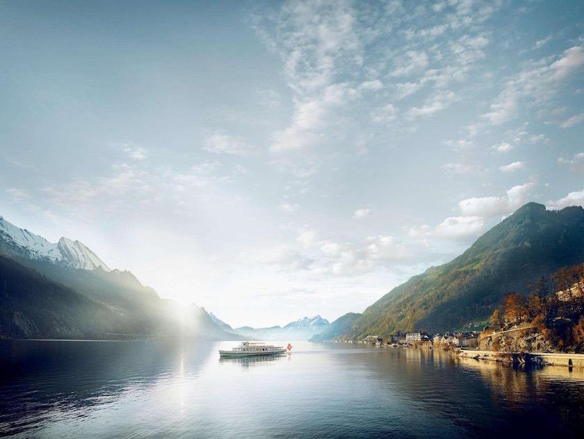 photo photos photography photographer photographers green mountain lake sea sky cloud clouds boat mountains ship