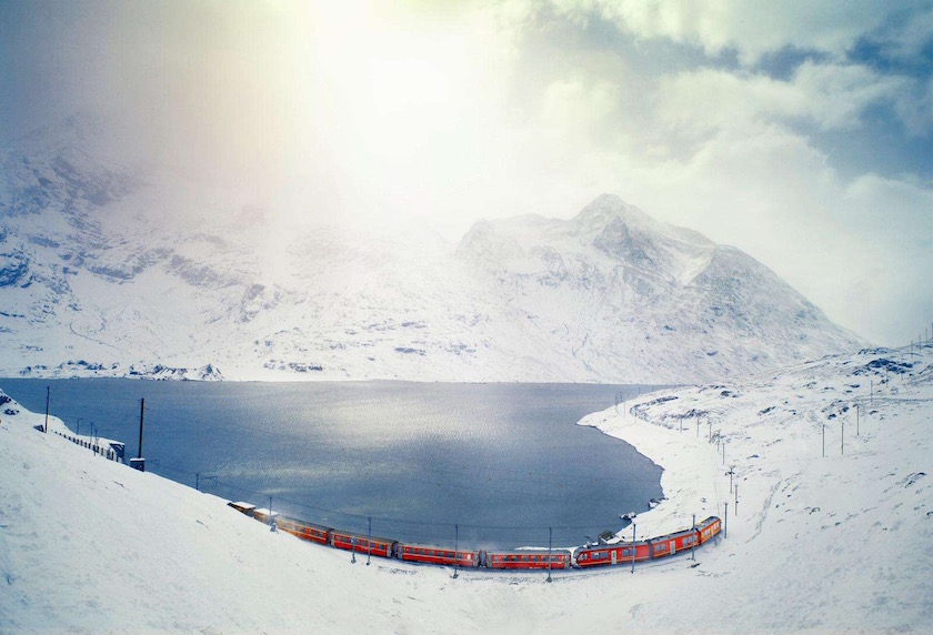 photo photos photography photographer photographers lake mountain snow cold ice sun sunny sunflare
