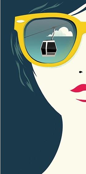 Digital Painting Elegant screenprint vector fashion woman