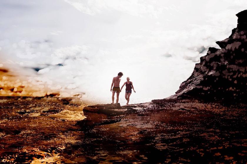 photo photos photography photographer photographers young woman man beach walk walking waves water sea ocean