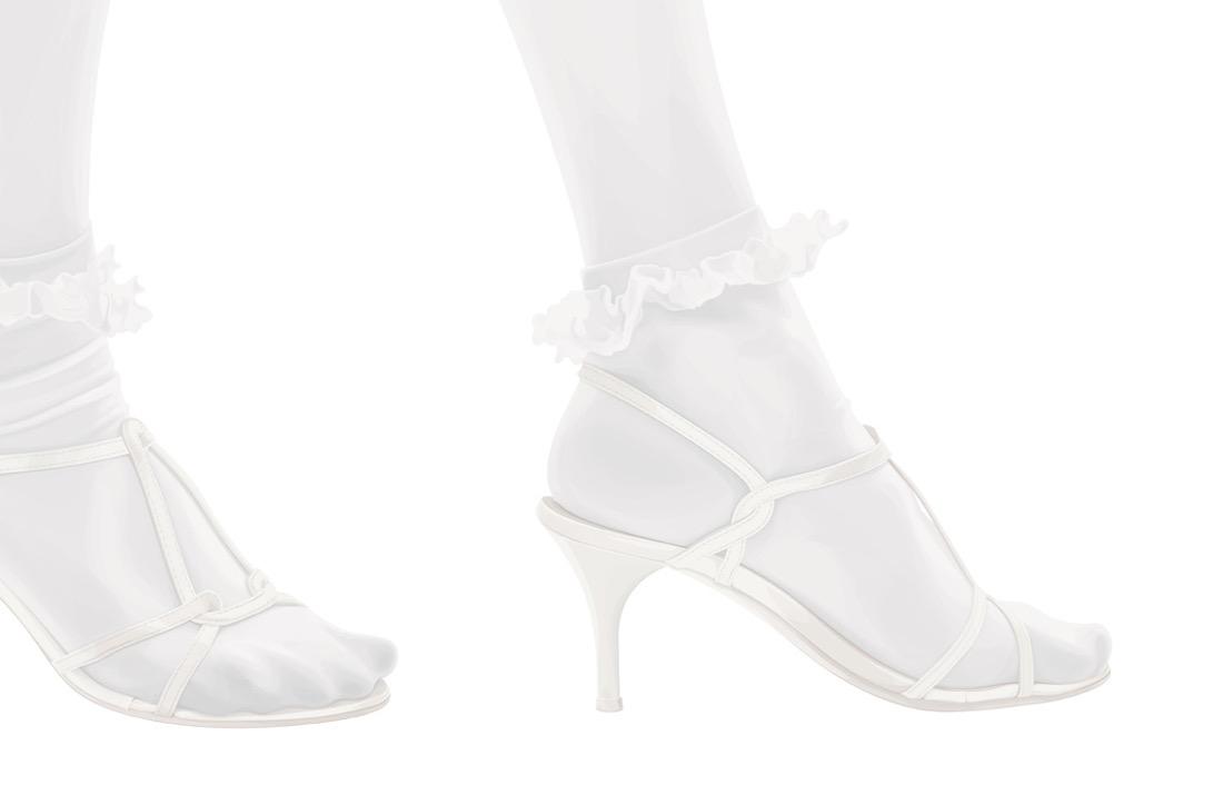illustration, illustrations, illustrator, illustrators, foot, feet, heels, high heels, socks, ruffles, texture, leg, legs, white washed, white, bleached