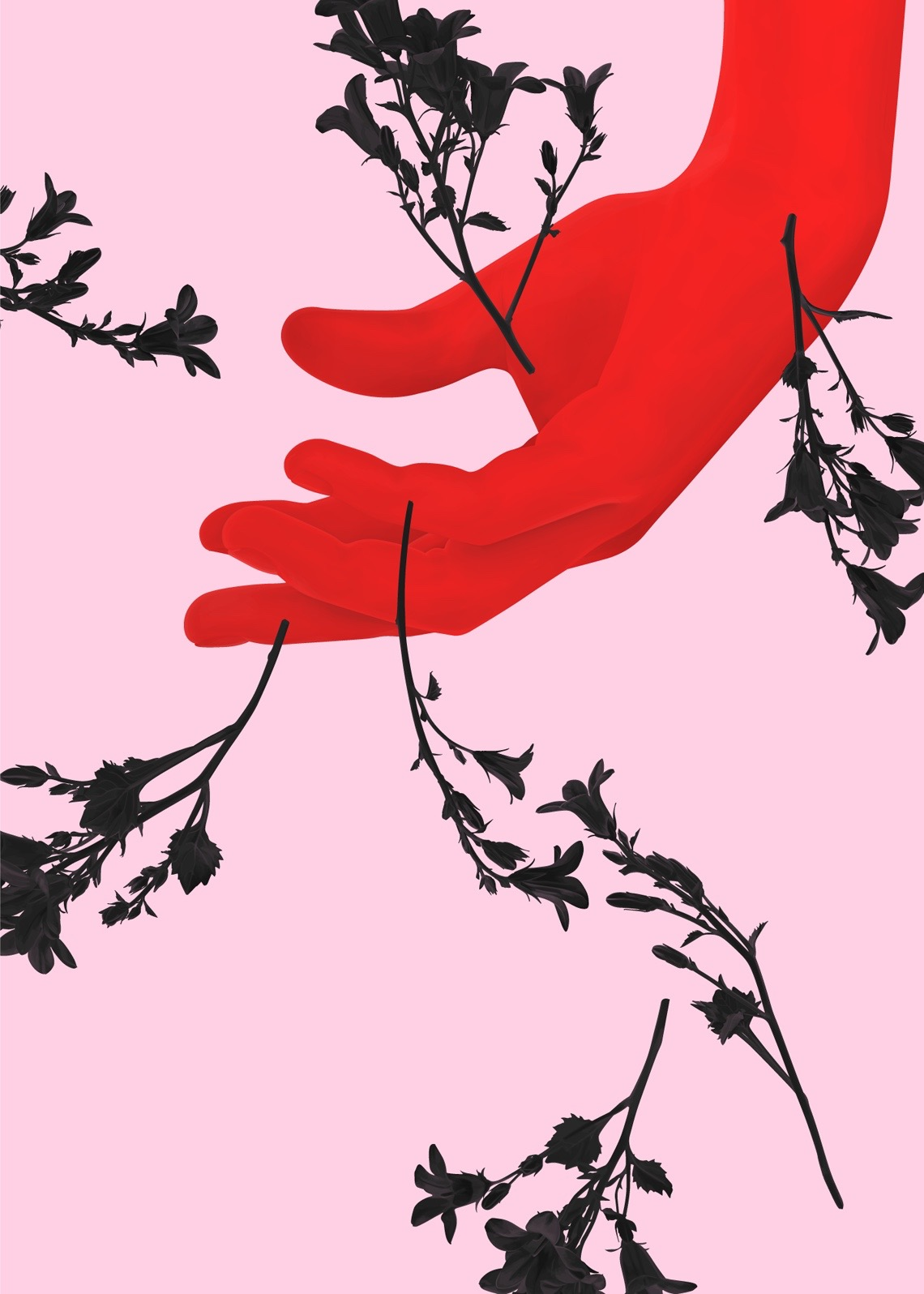 illustration, illustrations, illustrator, illustrators, hand, hands, flower, flowers, plant, plants, pattern, decoration, layer, layered, layers