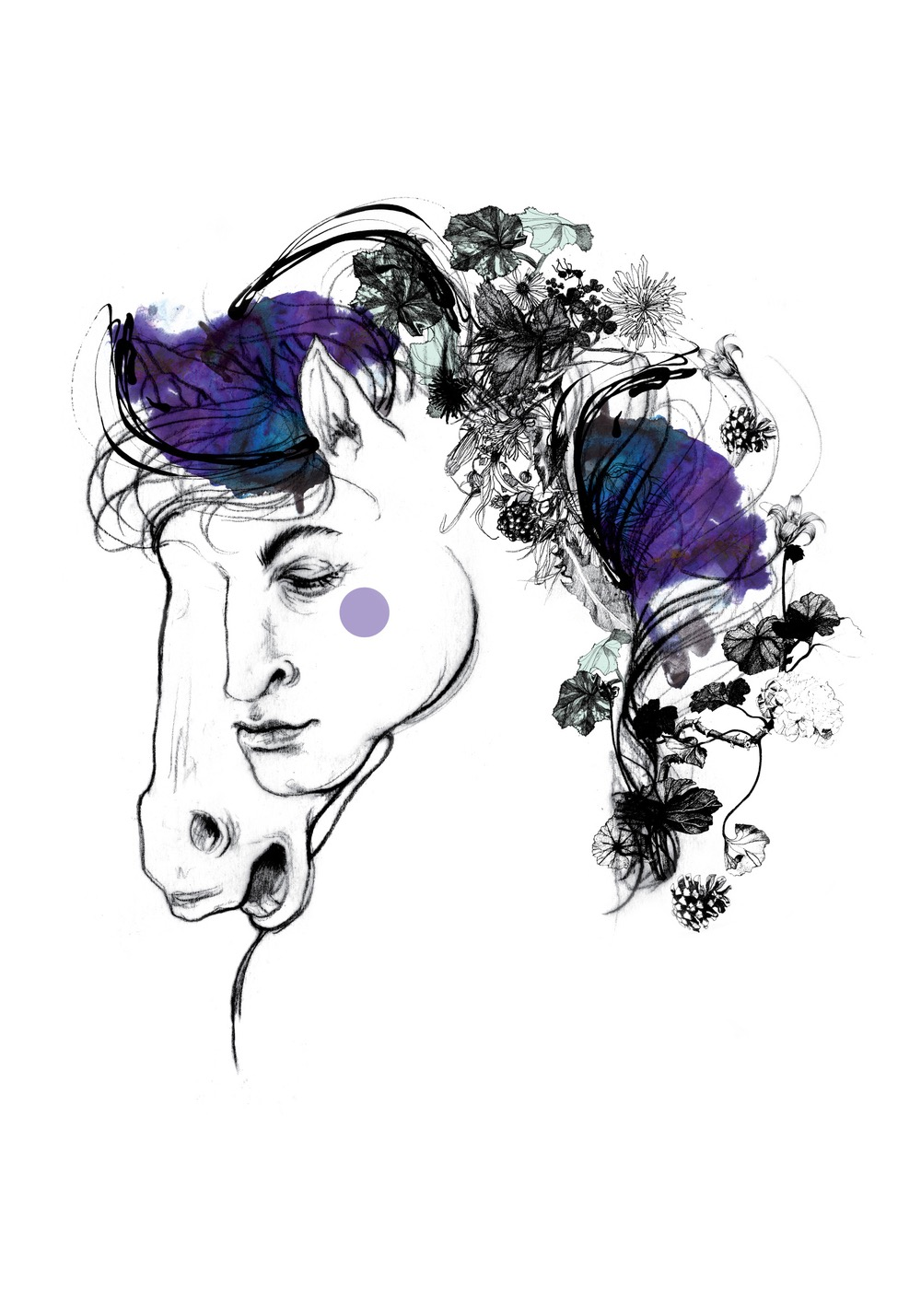 illustrator, illustrators, illustration, illustrations, man, men, horse, horses, flower, flowers, bloom, blooming, simple, outline
