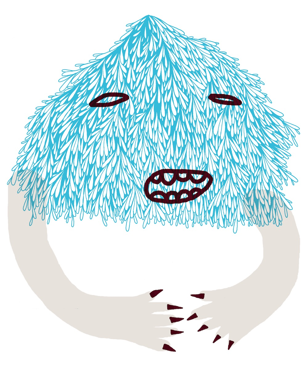 illustration, illustrations, illustrator, illustrators, smile, smiling, happy, teeth, texture, droplet, droplets, hand, hands, monster